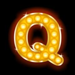 Light Bulb Letters Q