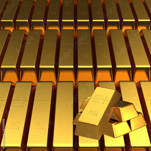 Set of gold bars