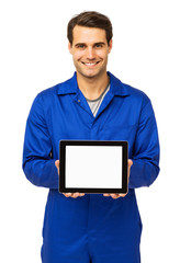 Mechanic Displaying Digital Tablet