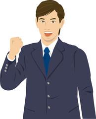 ビジネスマン 男性 ガッツポーズ