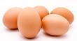 Leinwanddruck Bild - Brown chicken eggs isolated on a white background closeup