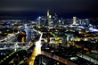 canvas print picture - Frankfurt am Main bei Nacht