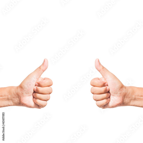 hand thumb up like concept isolated