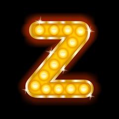 Light Bulb Letters  Z