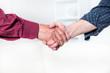 Senior man handshake