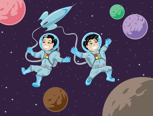 Kiddies in space