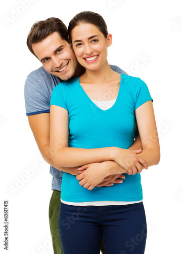 Man Embracing Woman From Behind