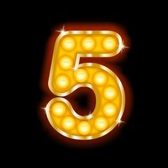 Light Bulb Letters number 5