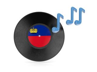 Vinyl disk with flag of liechtenstein