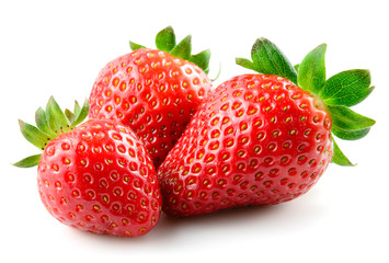 Strawberry. Berries isolated on white background.