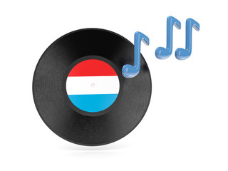 Vinyl disk with flag of luxembourg