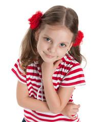 Smiling pretty preschool girl