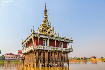 Pagoda in Inle lake, Myanmar.