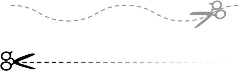Scissors with lines