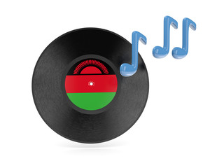 Vinyl disk with flag of malawi