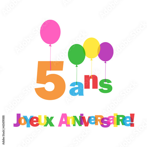 voeux anniversaire gar on 5 ans. Black Bedroom Furniture Sets. Home Design Ideas