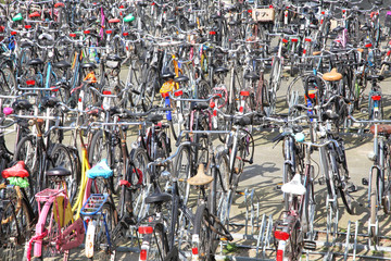 Lots of bikes in Rotterdam, Netherlands