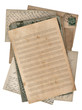 grungy paper sheet for musical notes and postcards