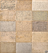 antique handwritten mails. old undefined texts
