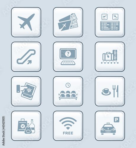 Airport icons | TECH series