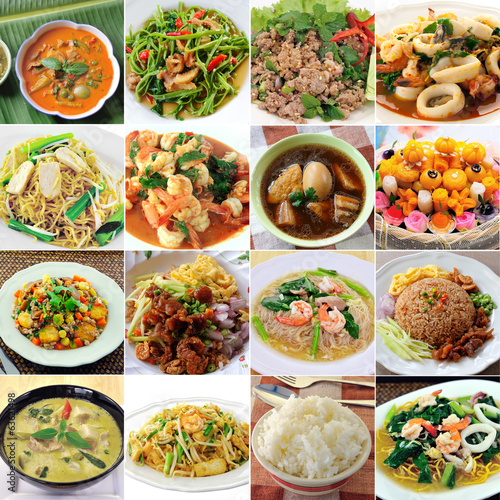 canvas print picture thai food