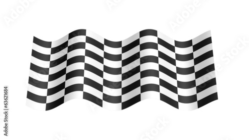 Check flag wavy, 3d animation loop
