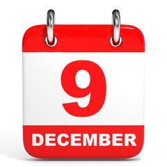 Calendar. 9 December.