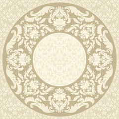 Elelegant vintage round frame