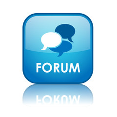 """FORUM"" Web Button (blog discussion board social media website)"