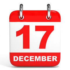 Calendar. 17 December.