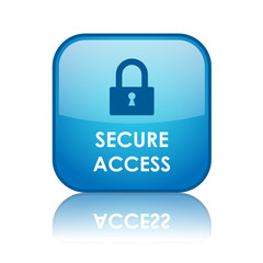 SECURE ACCESS Web Button (padlock security internet connection)