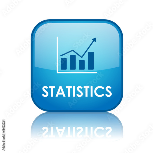"""STATISTICS"" Web Button (data analysis metrics management chart)"