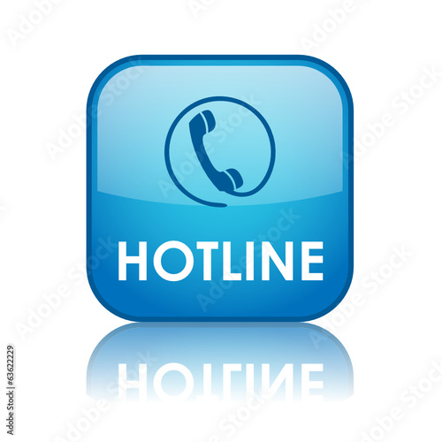 """HOTLINE"" Web Button (contact us tech customer service support)"