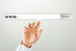 Search bar on a virtual computer screen
