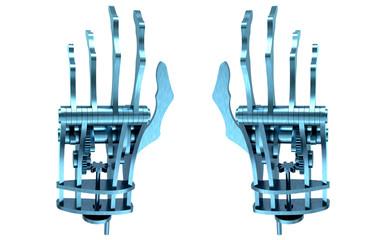 Mano meccanica, androide, cyborg, pianista