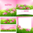 Obrazy na płótnie, fototapety, zdjęcia, fotoobrazy drukowane : Vector set of Easter greeting cards and backgrounds