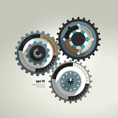 Business cog wheel template concept for brochure.