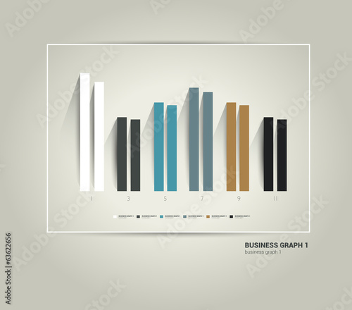 Example of business flat design graph.