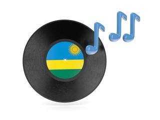 Vinyl disk with flag of rwanda