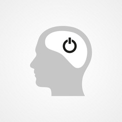 Head and on/off icon