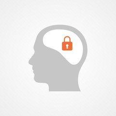 Head and padlock