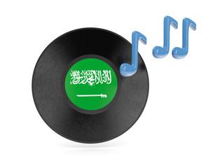 Vinyl disk with flag of saudi arabia