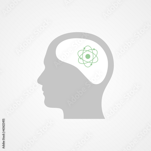Head and atom icon