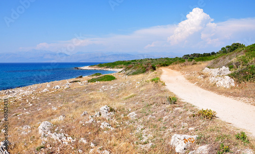 coast on the island of Corfu, Greece, Europe