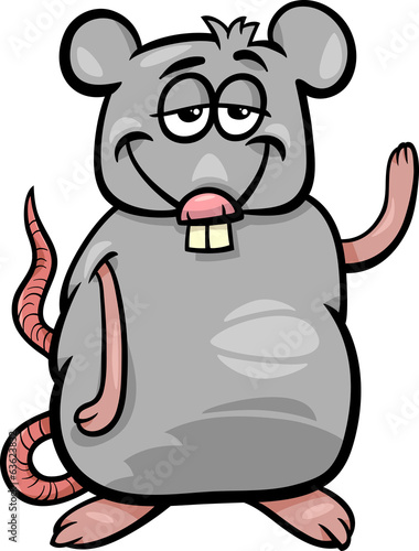 rat character cartoon illustration