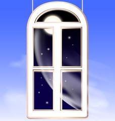 window in the night