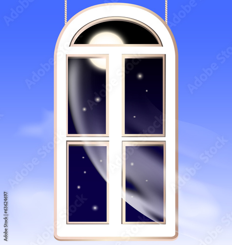 window in the night