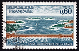 Postage stamp France 1966 Rance Power Station