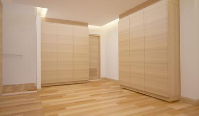 wood cabinet hall