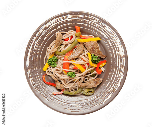 Buckwheat Spaghetti with Vegetables